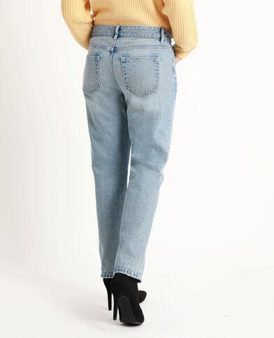 Jeans dritto mid waist blu