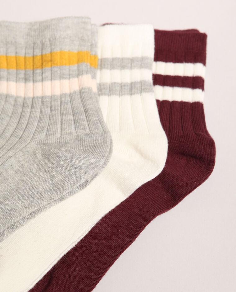 Lotto di calze a righe grigio