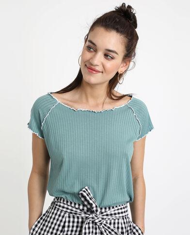 T-shirt con texture blu