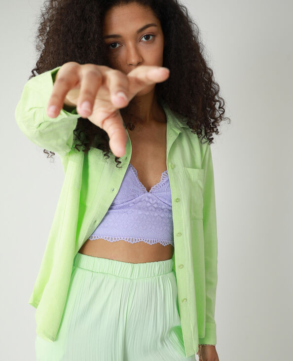 Camicia oversize asimmetrica verde - Pimkie