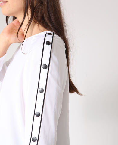 Blusa con bottoni bianco