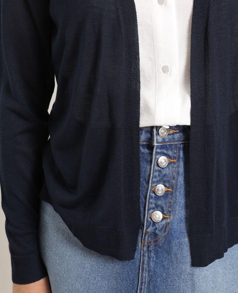 Cardigan sottile blu marino
