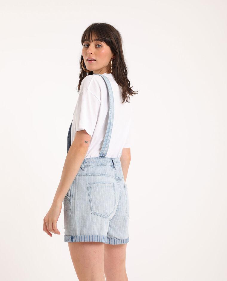 Salopette di jeans blu chiaro
