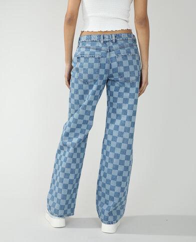Jeans wide leg mid waist blu denim - Pimkie