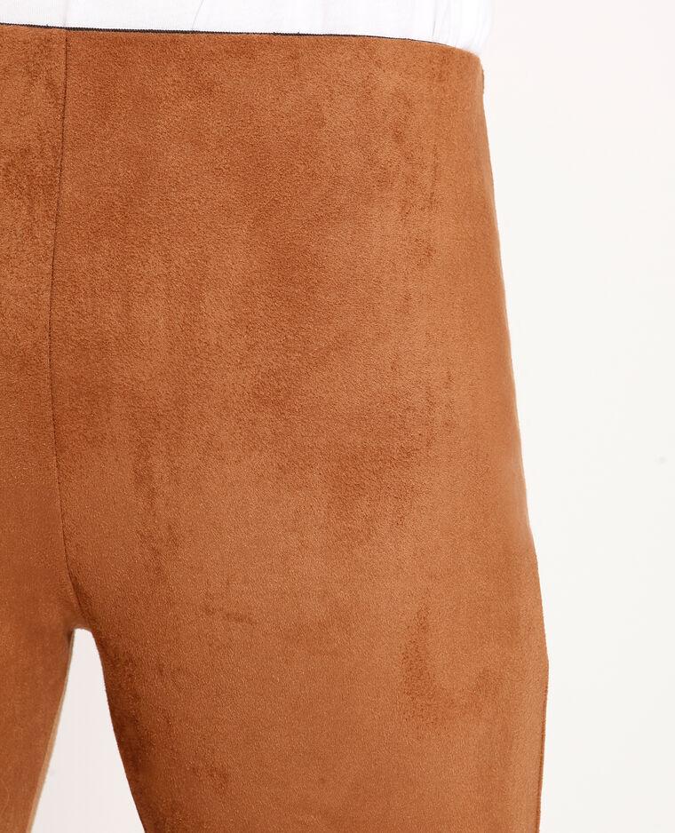 Fuseaux effetto pelle scamosciata ruggine