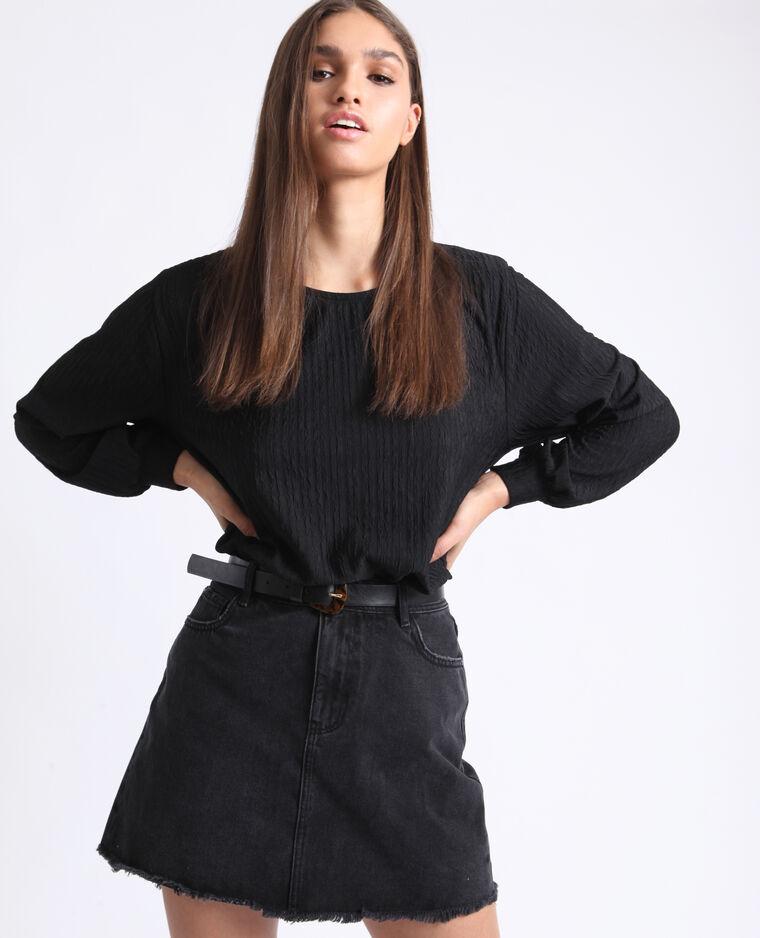 T-shirt maniche lunghe nero
