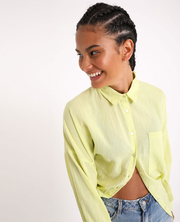 Camicia oversize. giallo