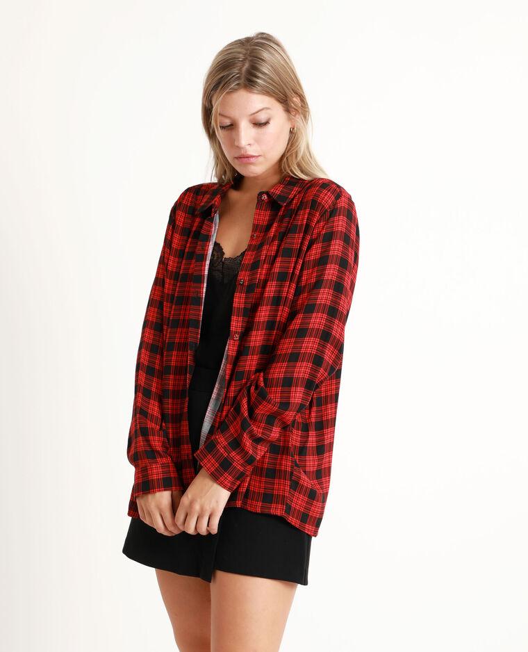 Camicia a quadri rosso