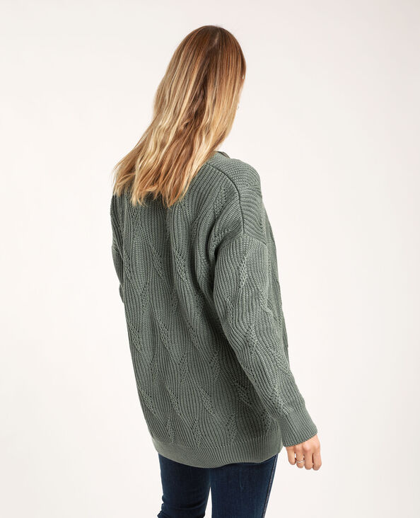 Cardigan di media lunghezza verdeg