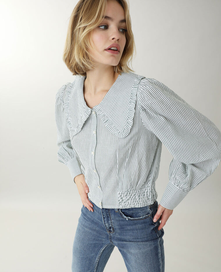 Camicia con collo ampio bianco