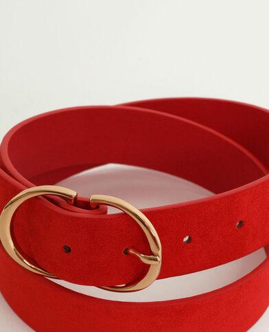 Cintura stile scamosciato rosso
