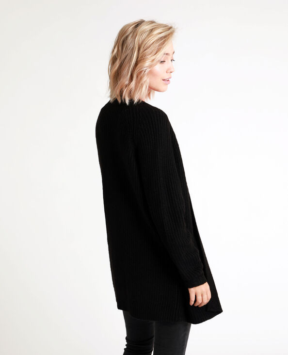 Cardigan di media lunghezza nero