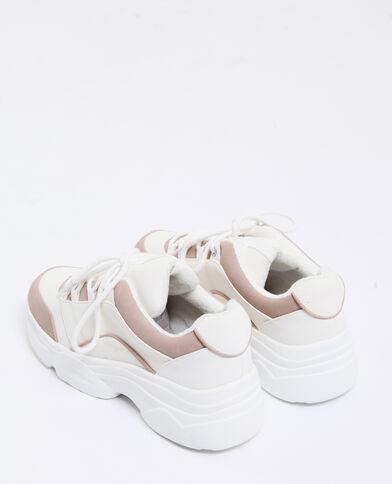 Scarpe sportive con suole spesse rosa cipria