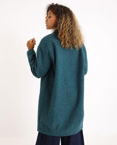 Cappotto di media lunghezza. blu