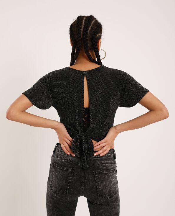 T-shirt aperta dietro nero