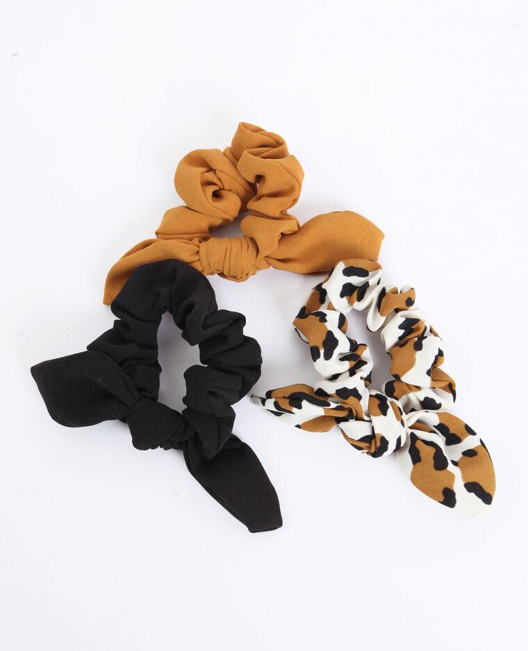 Lotto da 3 elastici per capelli marrone - Pimkie