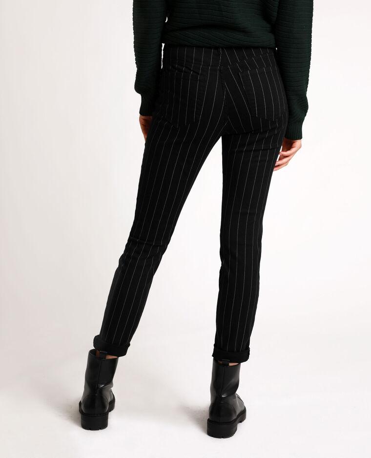 Pantalone skinny stampato nero