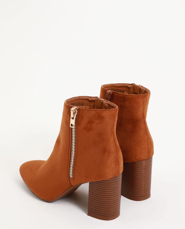 Boots con tacco marrone