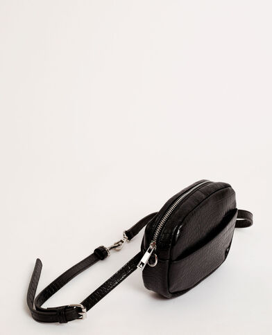 Pochette pitone nero