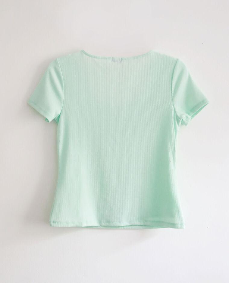 T-shirt con scollatura a V blu cielo - Pimkie
