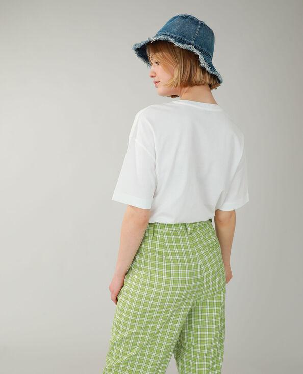 T-shirt ampia ricamata bianco sporco - Pimkie