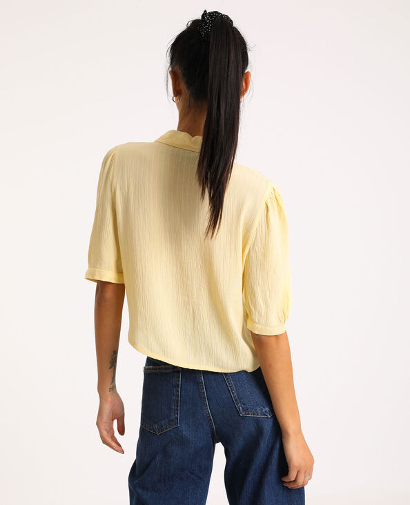 Camicia a maniche corte giallo