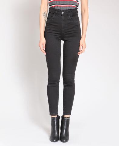 Pantalone skinny a vita alta nero