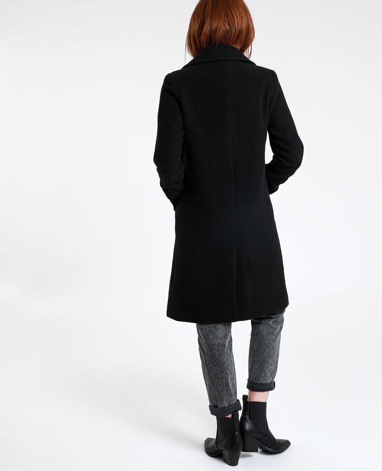 Cappotto lungo dritto nero