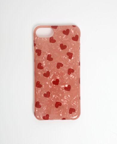 Custodia a cuori compatibile con iPhone rosso