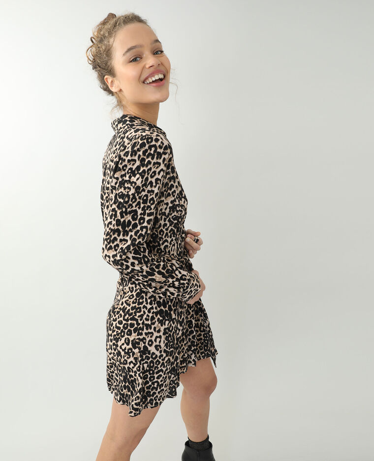 Abito effetto leopardato marrone