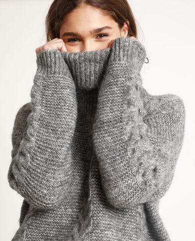 Pull dolcevita grigio