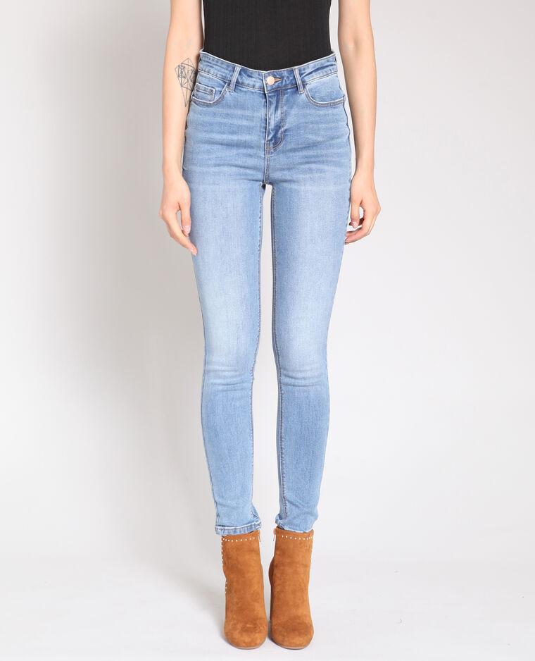 Jeans push up blu delavato