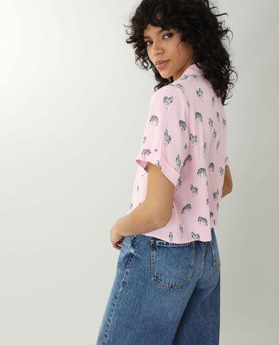 Camicia zebrata rosa - Pimkie