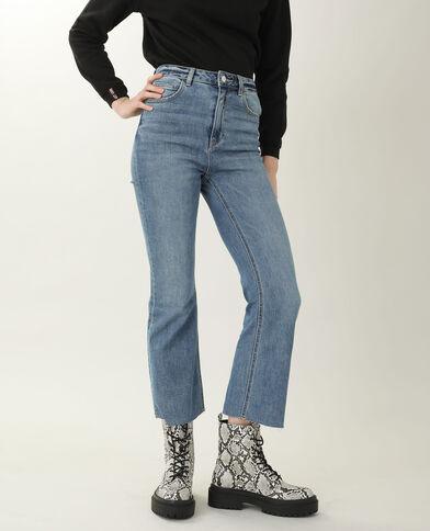 Jeans bootcut high waist blu denim