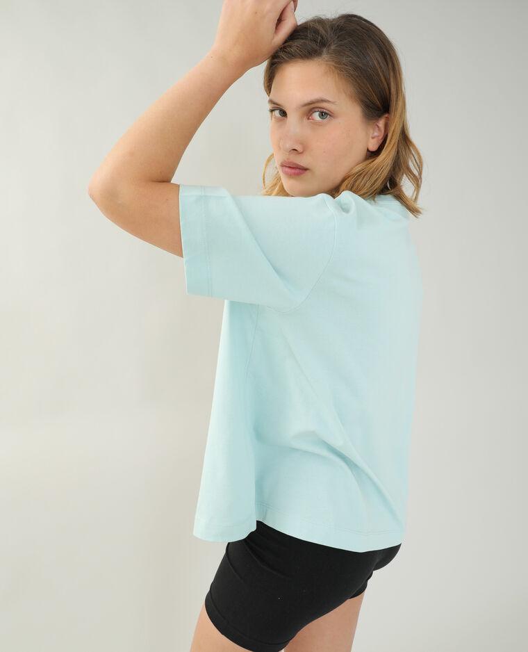 T-shirt ampia verde acqua