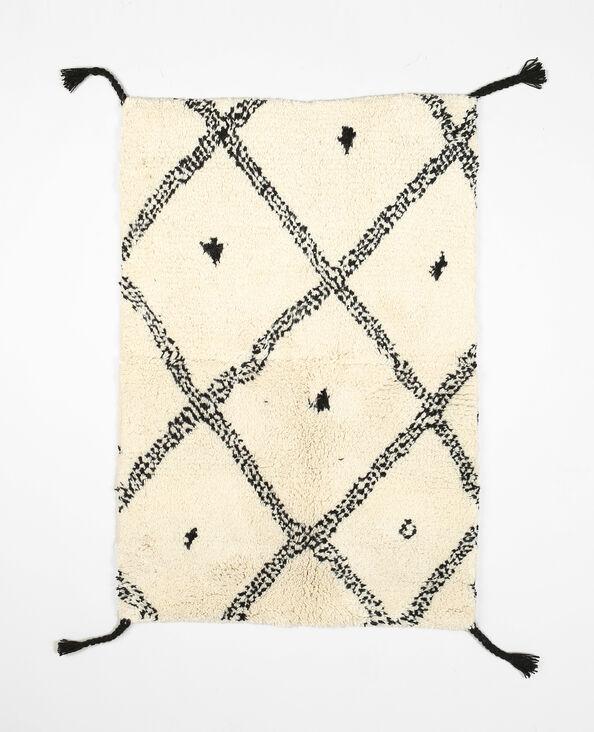 Tappeto berbero in lana bianco