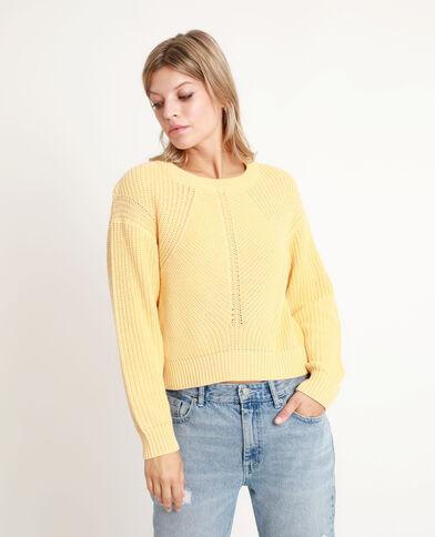 Pull corto giallo