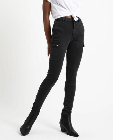 Jeans slim con tasche nero