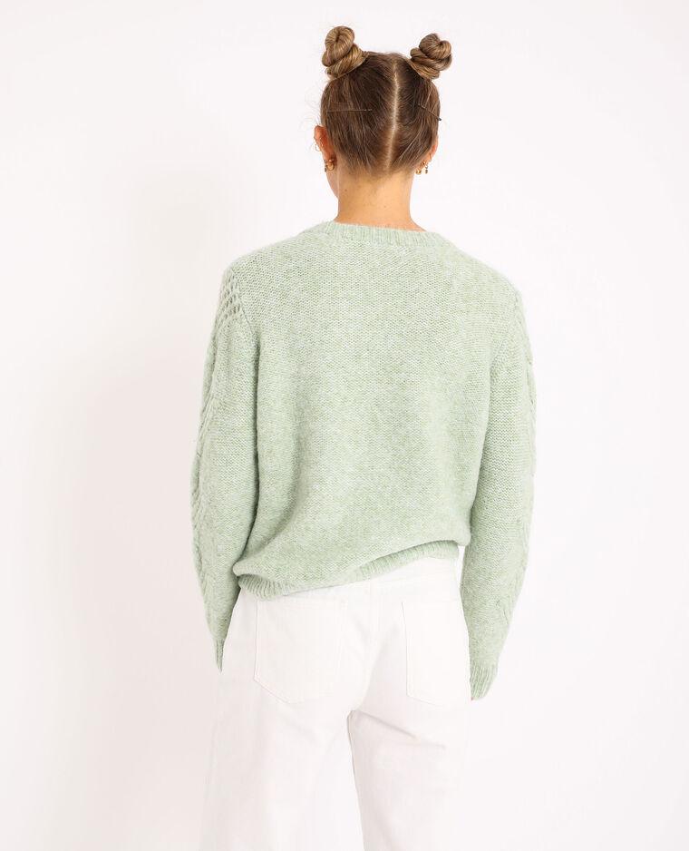Cardigan intrecciato verde