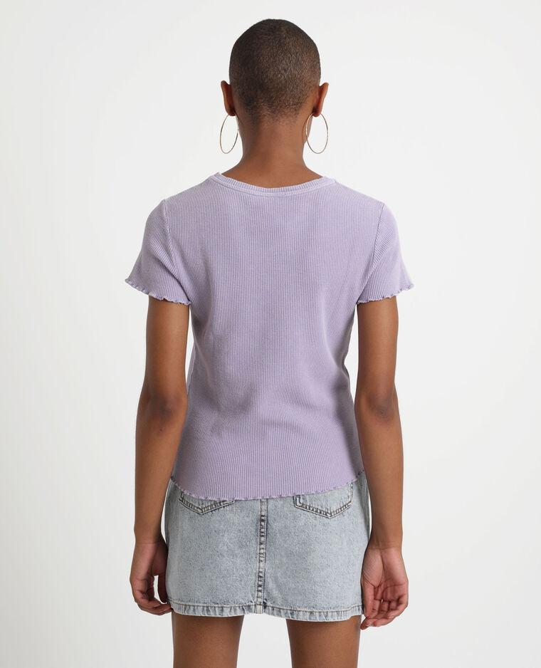 T-shirt con texture viola