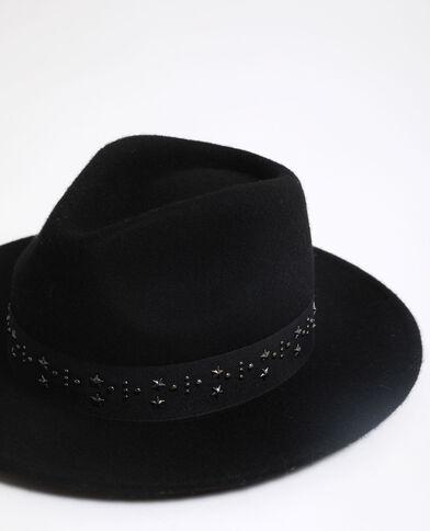 Fedora 100% lana nero