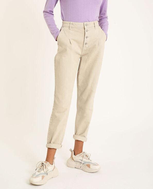 Jeans mom écru