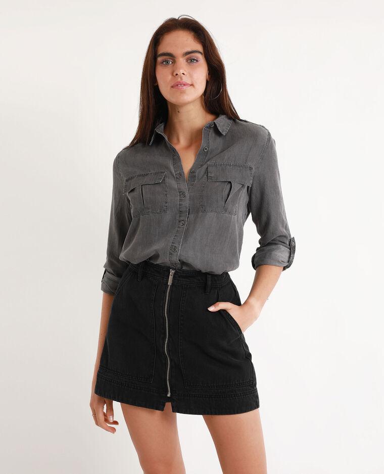 Camicia in jeans grigio antracite