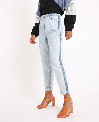 Jeans mom bleached blu chiaro