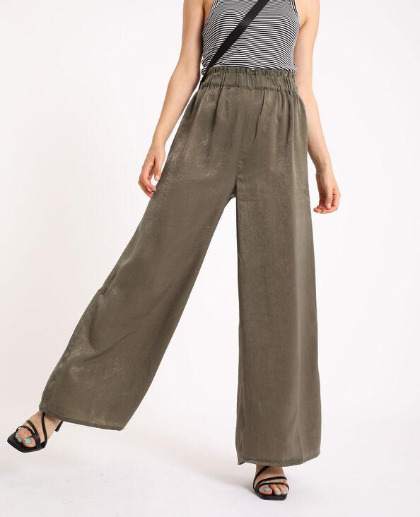 Pantalone largo kaki