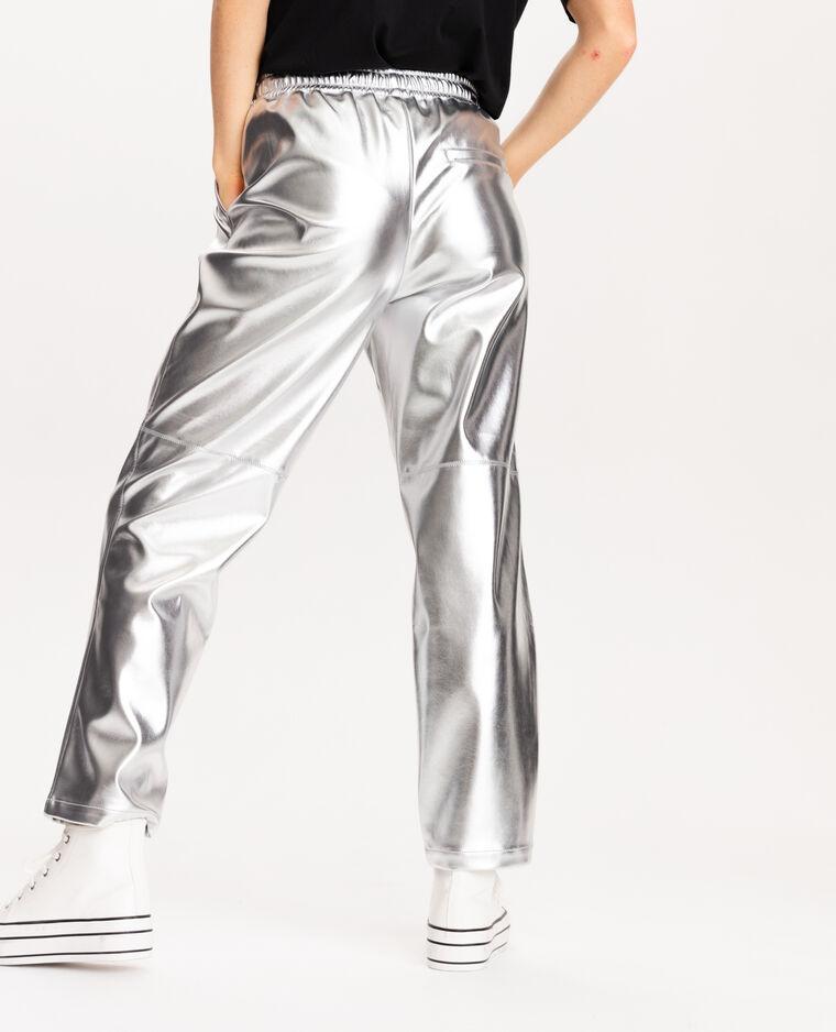 Pantalone in finta pelle grigio - Pimkie