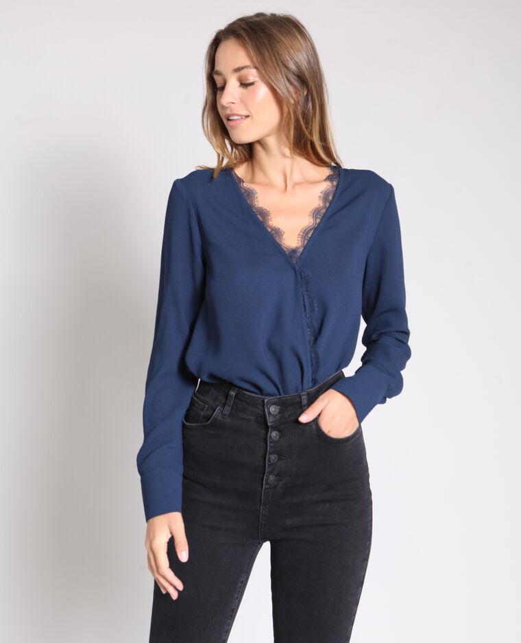 Body camicia blu marino