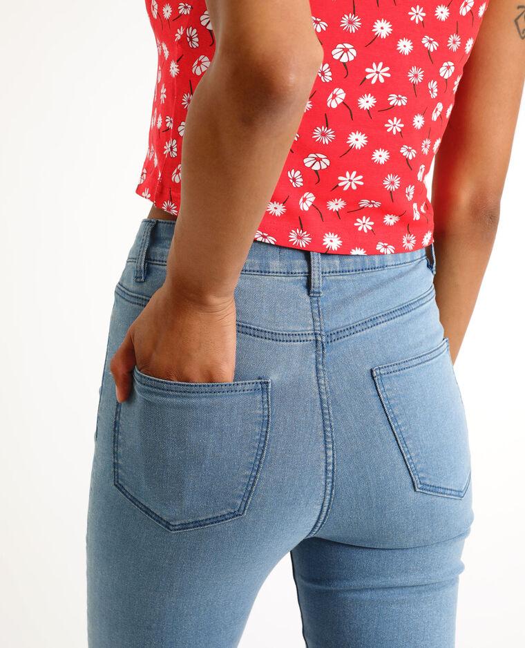 Jeggings mid waist blu denim