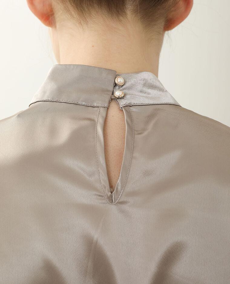 Camicia satinata marrone