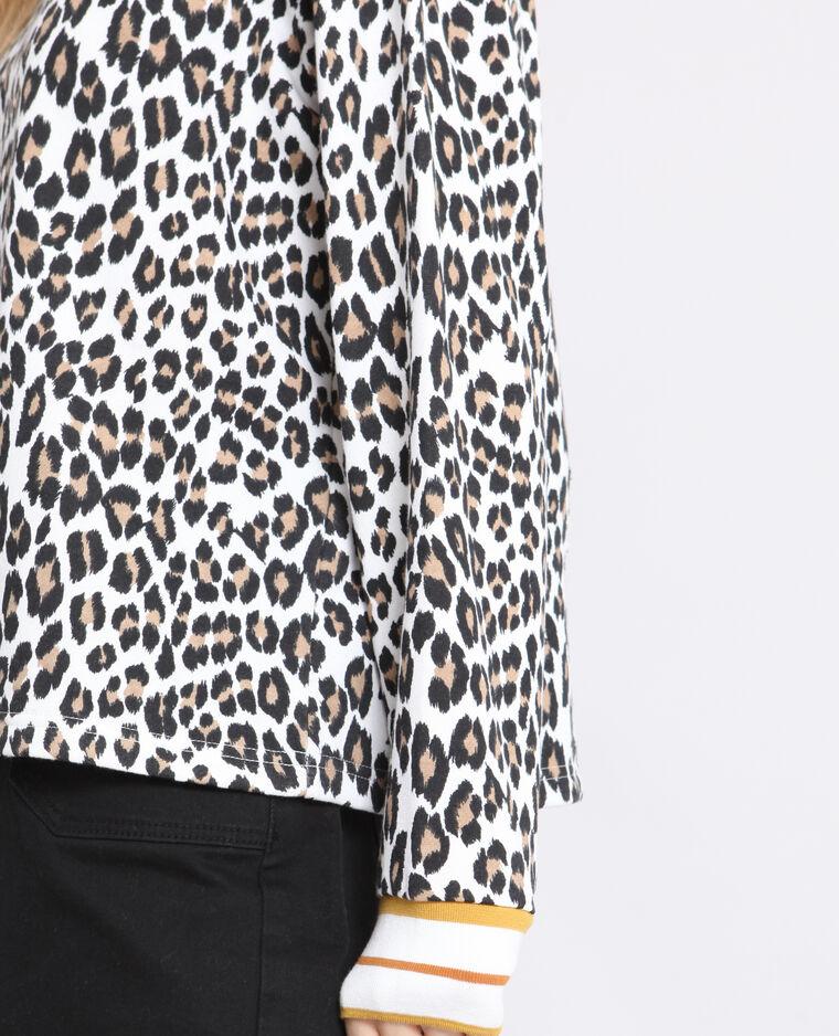 Felpa leopardata giallo